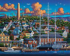 Boston National Historic Park - Fine Art - Dowdle Folk Art