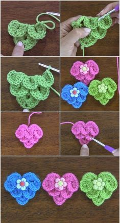 crochet diy Easy And Adorable Free Crochet Patterns Women always want to do something extraordinary at their home like free crochet pattern activities and many other things. Crochet Flower Tutorial, Crochet Flower Patterns, Crochet Stitches Patterns, Crochet Flowers, Knitting Patterns, Afghan Patterns, Amigurumi Patterns, Love Crochet, Crochet Motif