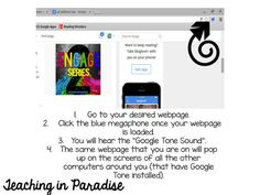 Teaching in Paradise: Google Tone {To the Rescue!}