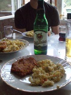Slovakia Food | Slovakian food. Schnitzel, potato salad, and beer. - Slovakia ...