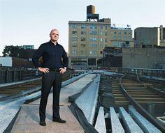 James Corner, Field Operations. Landscape Architect. Known for the High Line, Landscape Urbanism, Taking Measures Across the American Land scape (Yale University Press, 1996), Studied with Ian McHarg at Penn.