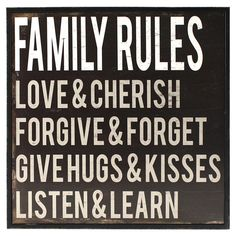 Family Rules Framed Wall Art