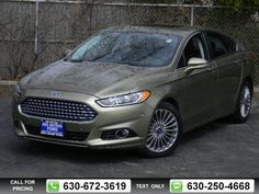 2013 Ford Fusion Titanium 38k miles $19,885 38322 miles 630-672-3619 Transmission: Automatic  #Ford #Fusion #used #cars #JoeCottonFord #CarolStream #IL #tapcars