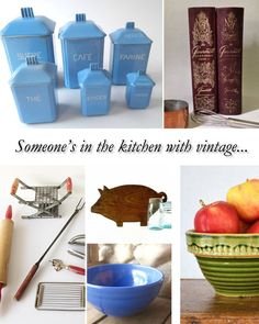 """Looking for vintage kitchen pieces? Discover #VintageAndMain www.etsy.com/pages/vintageandmain/in-the-kitchen-vintage-style"