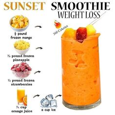 Mango Smoothie Recipes, Smoothie Diet Plans, Healthy Juice Recipes, Good Smoothies, Healthy Juices, Healthy Foods To Eat, Healthy Drinks, Smoothie Challenge, Smoothie Bar