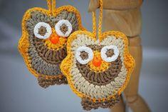 Buhos para colgar y decorar el hogar. Realizados en crochet. 11.50 €