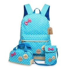 Oferta: 21.99€ Dto: -39%. Comprar Ofertas de Bcony Conjunto de 3 Dot lindo Las mochilas escolares universidad/bolsas escolares/mochila niños niñas adolescentes + mini bol barato. ¡Mira las ofertas!