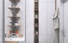 mała łazienka-funkcjonalnie - zdjęcie od MIKOŁAJSKAstudio