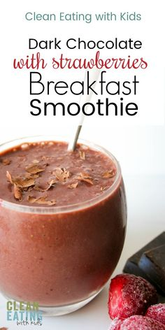 this decadently delicious dark chocolate and strawberry smoothie tastes bloody amazing! Apple Smoothies, Healthy Smoothies, Smoothie Recipes, Blender Recipes, Chocolate Strawberry Smoothie, Strawberry Breakfast, Clean Eating Chocolate, Keto, Homemade Chocolate