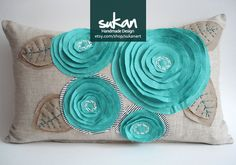 Sukan Designer Pillows Yellow ROSE Flowers Gray Linen by sukanart