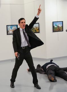 The shooting at an art exhibit, said to be carried out by a 22-year-old police officer, vaulted relations between Turkey and Russia to a new level of crisis over the Syrian war.