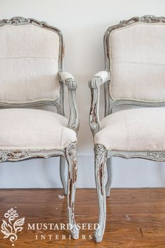 Reupholstering French Chairs – How To Tutorials- Miss Mustard Seed - New ideas Painted Chairs, Painted Furniture, Furniture Design, Repurposed Furniture, Smart Furniture, Modular Furniture, Steel Furniture, Refurbished Furniture, Unique Furniture