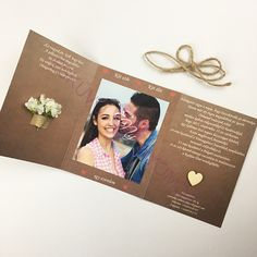 Esküvői meghívó - Vintage 22 - Esküvő Nyomda Thanks Card Wedding, Wedding Cards, Diy Wedding, Dream Wedding, Rustic Wedding, Photo Wedding Invitations, Presents For Him, Simple Weddings, Destination Wedding