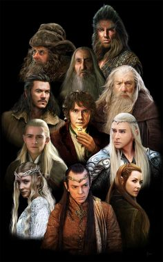 Middle Earth Characters by soukist