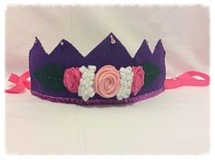 Felt Waldorf Inspired Girl Birthday Crown Hat by Spellingfelt