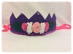 Felt Waldorf Inspired Girl Birthday Crown Hat by Spellingfelt