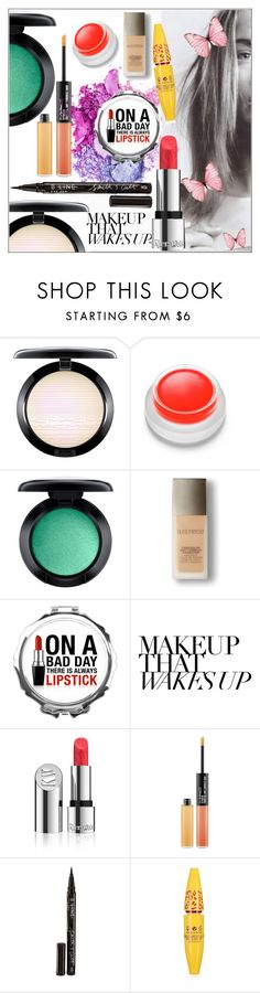 """""""Makeup that wakes up"""" by frenchfriesblackmg ❤ liked on Polyvore featuring beauty, MAC Cosmetics, rms beauty, Laura Mercier, Kjaer Weis and Smith & Cult"""