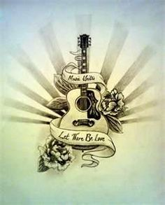 41 Best Guitar Tattoo With Words Images Guitar Tattoo Music