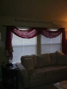 I Swaggered The Same Length Valance In My Living Room For A More Formal  Look.