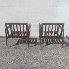 "1960s Pair of Teak ""Candidate"" Lounge Chairs by Ib Kofed Larsen for Selig 5"