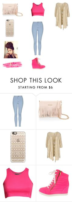 """Untitled #23"" by fellowsfamily on Polyvore featuring Topshop, Rebecca Minkoff, Casetify, SCEE, Pilot, Miu Miu, women's clothing, women, female and woman"