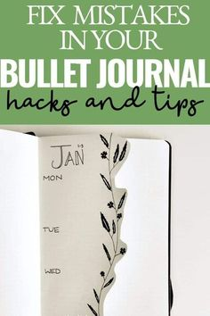 LEARN HOW TO FIX BULLET JOURNAL MISTAKES THE SIMPLE WAY! THE BEST HACKS TO FIX ANY MISTAKE AND HOW TO PREVENT THEM FROM HAPPENING IN THE FIRST PLACE! Click to learn more. Monthly Bullet Journal Layout, Bullet Journal For Beginners, January Bullet Journal, Bullet Journal How To Start A, Bullet Journal Themes, Bullet Journal Spread, Bullet Journal Mood Tracker Ideas, Bullet Journal Travel, Bullet Journal Inspiration