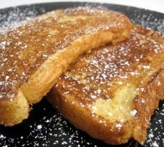 Real French toast - not from a box! My Dad made these for us all the time when we were kids. Cook up a bunch for your whole family for breakfast on weekends and special occassions.