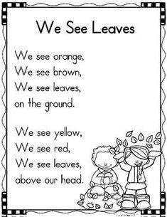 40 Sight Word Poems for Kindergarten // sight words and rhyming // literacy whole group Kindergarten Poetry, Kindergarten Classroom, Classroom Decor, Fall Preschool, Preschool Songs, Preschool Worksheets, Poetry Journal, Kids Poems, Easy Poems For Kids