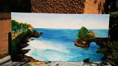 TANHAH LOT BALI Memory that I really wanted to capture on canvas...:-) simply happy