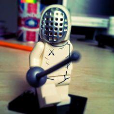 The Lego Fencer! #fencing #fencer #lego #legotoy #fencingmask