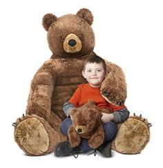 Brown Bear and Cub Jumbo Stuffed Animal: This cuddly bear duo is extra soft and hugely huggable! Kids love to snuggle up in mama bear's inviting lap with baby bear to hold. Durably constructed of high-quality materials, both are surface-washable and ready for many years of hugs!