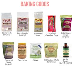 ::skinny baking goods and my pantry must haves! Keeping these items on hand makes it easy to always whip up something healthy, quickly and deliciously::