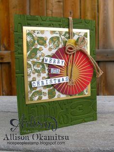 nice people STAMP!: Kinda Eclectic for a Merry Christmas by Allison Okamitsu