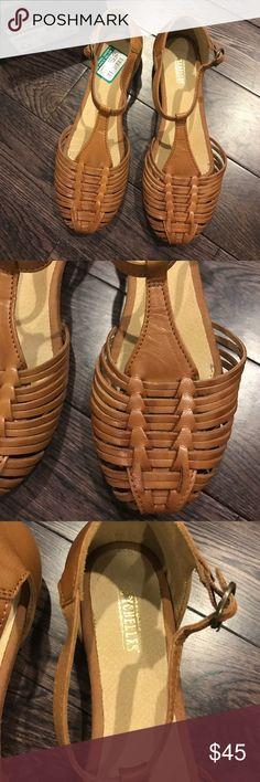 "Seychelles brown leather sandals. Size 8.5 New! Seychelles ""Jester"" leather sandals. Size 8.5. Adjustable ankle strap. Seychelles Shoes Sandals"