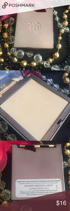 Urban Decay Naked Skin Ultra Definition Pressed Powder foundation in shade Medium Light. Pic shows condition. Retails for $34. Bundle with additional items for a 20% discount. Urban Decay Makeup Foundation
