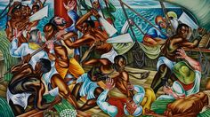 In 1938, the historically black Talladega College commissioned artist Hale Woodruff to create a series of paintings telling the story of the Amistad, when 53 Africans revolted on a Spanish ship carrying them to slavery one century earlier. A traveling exhibition organized by the High Museum in Atlanta showcases the Talladega murals, now on view at the Smithsonian. Jeffrey Brown reports.