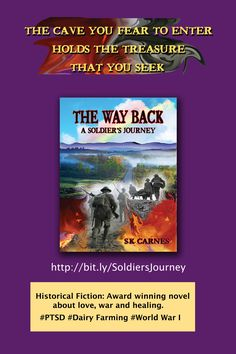 An award winning historical novel, The Way Back, is about #PTSD #World War I #dairy farming in Wisconsin, and the # barn
