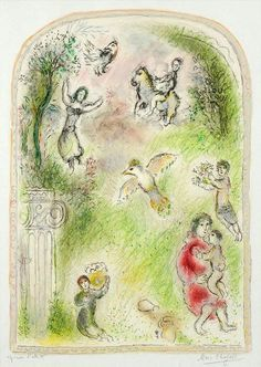 Marc Chagall - 'The Garden of Pomona' - Colour lithograph.                                                                                                                                                                                 More
