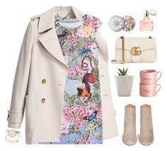 """""""Untitled #1509"""" by timeak ❤ liked on Polyvore featuring See by Chloé, Mary Katrantzou, Aquazzura, Gucci and Guerlain"""