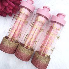 Botella de agua con tiempos / Glitter botella de agua /