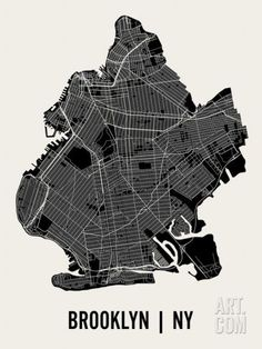 Brooklyn Art Print by Mr City Printing. Save up to 40% for a limited time at Art.com