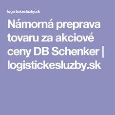 Námorná preprava tovaru za akciové ceny DB Schenker   logistickesluzby.sk