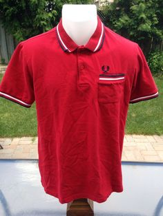 New to MajorDivision on Etsy: Vintage Red Fred Perry Polo With Pocket (30.00 CAD)
