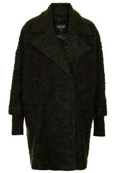 Slouchy Mohair Boyfriend Coat - Jackets & Coats  - Clothing