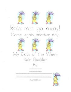 ain Rain Go Away Easy Reader booklet. pinned by @PediaStaff – Please Visit  ht.ly/63sNt for all our pediatric therapy pins