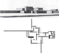 Barcelona Pavilion plan  Mies van der Rohe    Ludwig Mies van        Brick Country House  unbuilt Ludwig Mies van der Rohe
