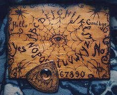 Morgana Murmures, Strange Days in Black Diy Ouija Board, Wiccan, Magick, Ouija Tattoo, Repainting Furniture, Dremel Projects, Wood Burning Art, Modern Witch, Occult