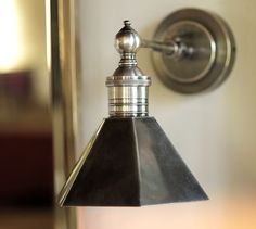 Metal-Head Sconce, Single, Antique Pewter finish