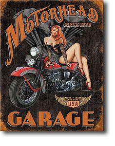 Carteles Vintage en www.latiendamericana.com: Carteles de chapa vintage de chicas pin-up