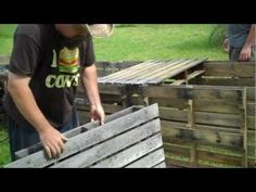 Really cool video on making a raised bed out of pallets. No major cutting and reassembling of the wood is needed.